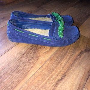 Ugg Purplish Blue Meena Moccasin Loafers